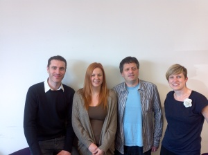 Edward, Victoria from Social Breakfast with Gary and Teresa from People's Voice Media
